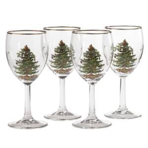 Spode Christmas Tree - Wine Glass Set Of 4