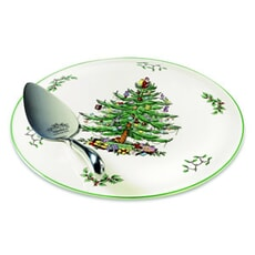 Spode Christmas Tree Cake Plate And Server