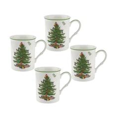 Spode Christmas Tree - Set Of 4 Mugs