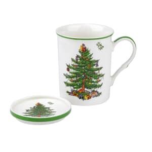 Spode Christmas Tree - Mug And Coaster Set