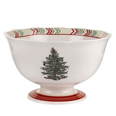 Spode Christmas Jubilee Footed Bowl - Chevron