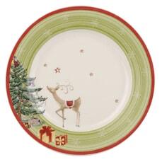 Spode Christmas Jubilee Salad Plate - Green Band