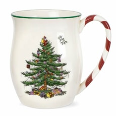 Spode Christmas Tree - Mug With Peppermint Handles Set Of 2