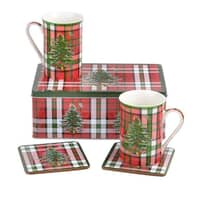 Spode Christmas Tree - Tartan 5 Piece Set