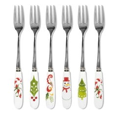 Portmeirion Christmas Wish - Pastry Forks Set Of 6