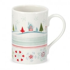 Portmeirion Christmas Wish - Mug Village Set 4