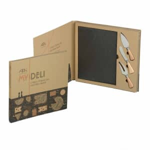 Arthur Price My Deli 3 Piece Cheese Set And Slate Board