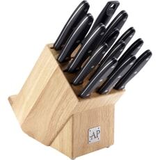Arthur Price 14 Piece Wooden Knife Block Set