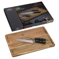 Arthur Price Kitchen Carving Set And Wooden Carving Board