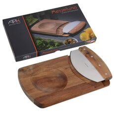 Arthur Price Kitchen Mezzaluna And Chopping Board
