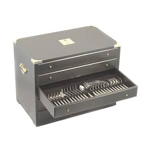 Arthur Price Clive Christian Empire Flame All Gold - 85 Piece Chest