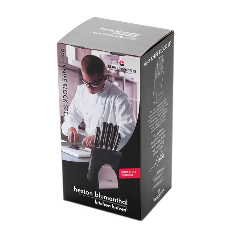 Heston Blumenthal 6 Piece Knife Block Set Hst505
