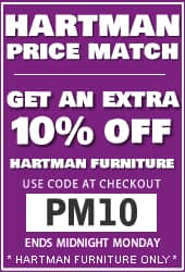 Hartman Furniture Price Match