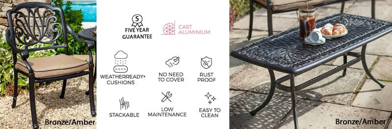hartman amalfi garden furniture features