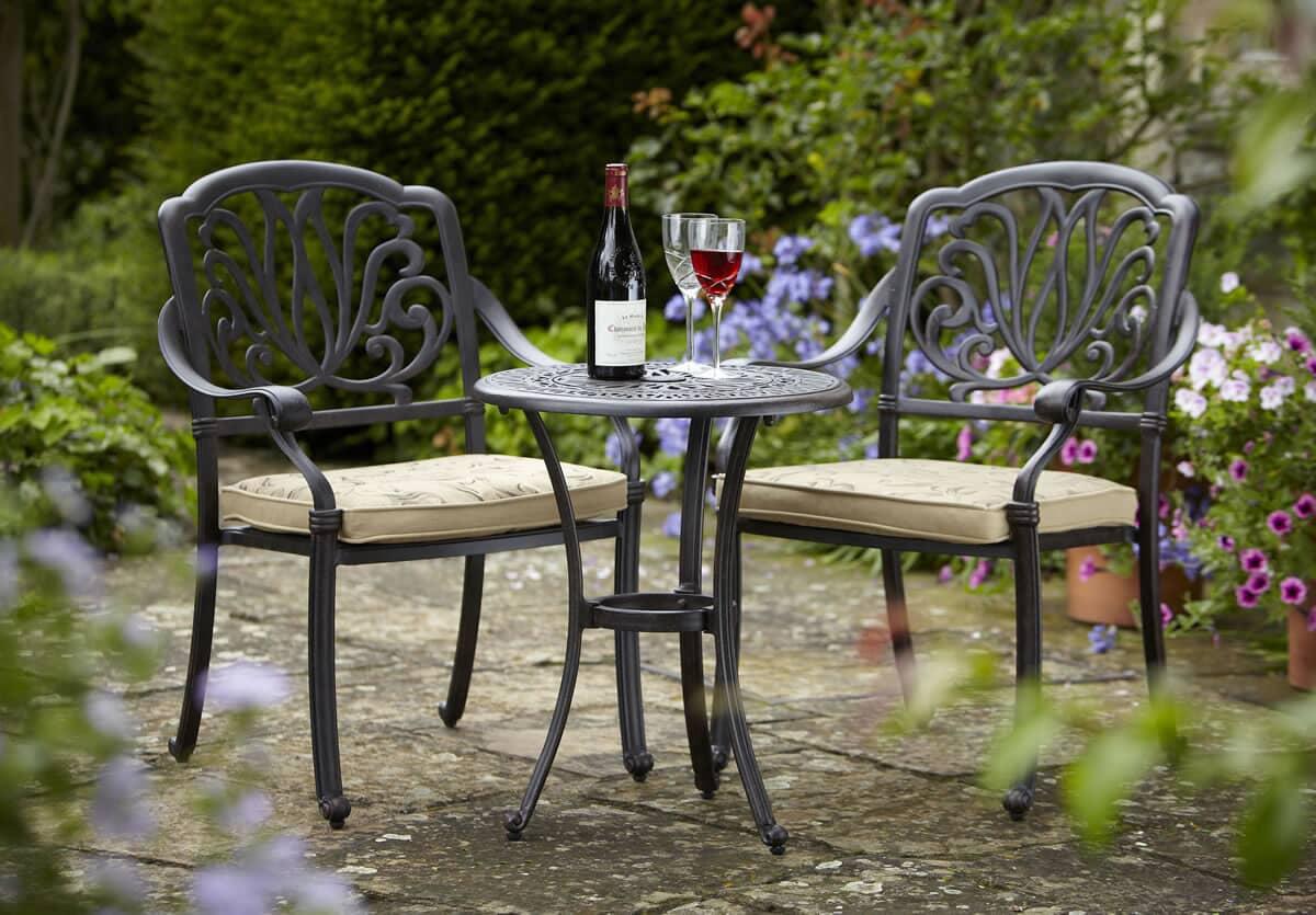 Hartman Amalfi Bistro Set Bronze Ham12set01 Garden
