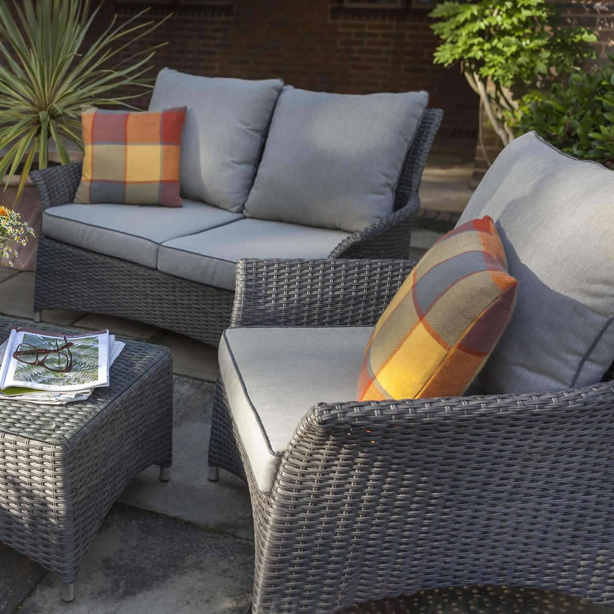 Hartman Appleton Lounge Set Slate Stone Grey Rattan
