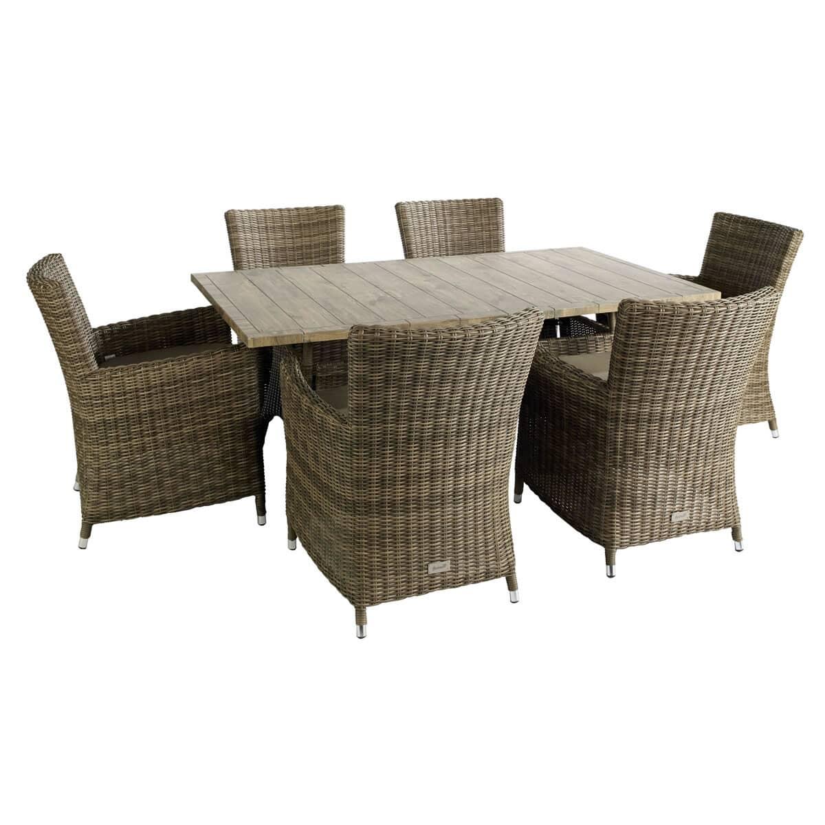 Hartman Semerang Ceramic Rectangular 6 Seat Set