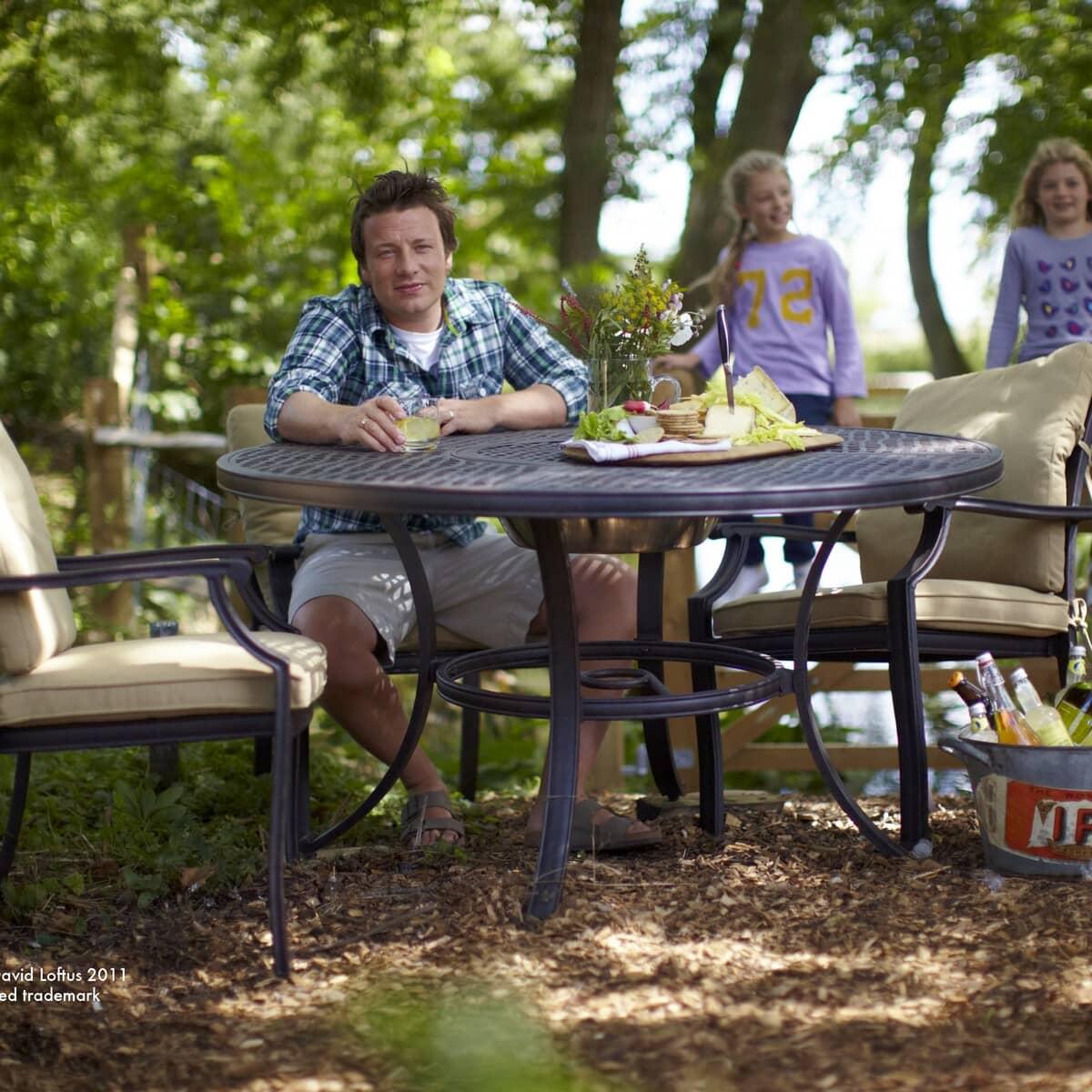 Jamie Oliver 4 Seat Grilling Set Nutmeg Jogrill4setn