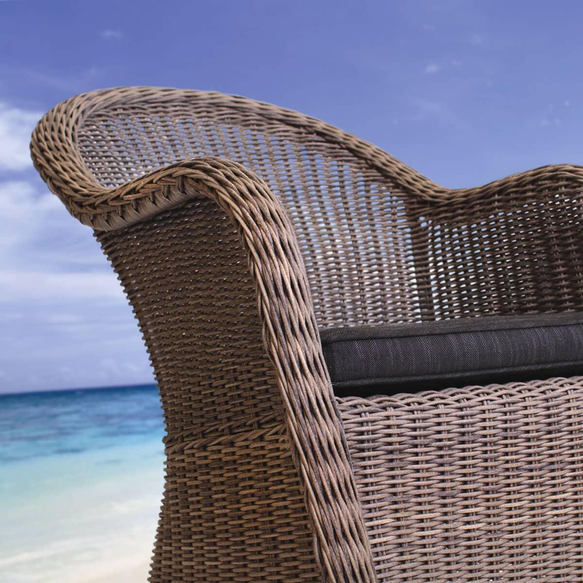 Kettler love seat rattan 01022302100 garden furniture for Cane and wicker world