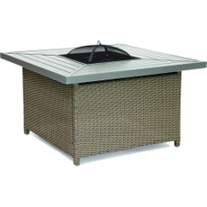 Kettler Palma Square Charcoal Fire Pit Table - Rattan