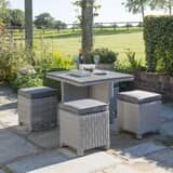 Kettler Palma Cube Set White Wash (Slat Top Table)
