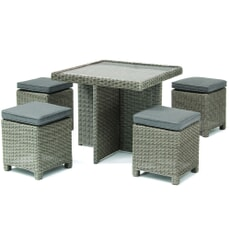 Kettler Palma Cube Set Rattan (Glass Top Table)