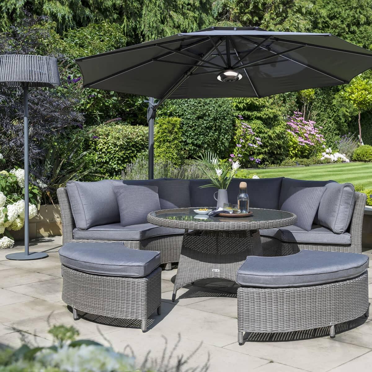 Kettler Palma Round Set Rattan - (0193347-2100C) - Garden ...