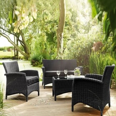 Kettler Lakena Lounge Set in Anthracite includes cushions