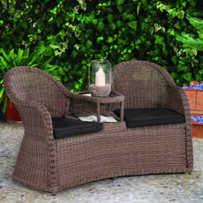 Kettler Tea For Two in Rattan includes cushions