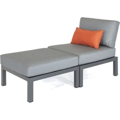 Kettler Elba Side Chair and Footstool/Extending Chair and Stool for Low Corner Set