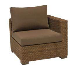 Life Maui Lounge Corner Light Brown With Taupe Cushions