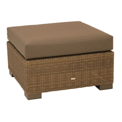 Life Maui Lounge Poof Light Brown With Taupe Cushion