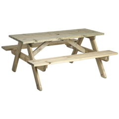 Pine Woburn Picnic Table 6ft