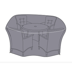 Hartman 4 Seat Round Dining Set Cover - Large
