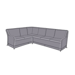 Hartman Westbury Rectangular Casual Dining Corner Set Cover