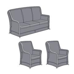Hartman Heritage 3 Seat Reclining Lounge Set Covers