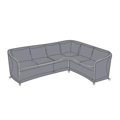Hartman Henley Rectangular Corner Sofa Cover - Left Hand