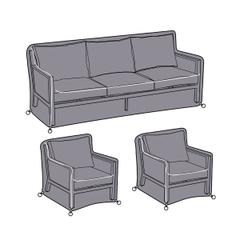 Hartman Nouveau 3 Seat Lounge Set Cover