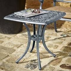 Hartman Amalfi 54cm Square Side Table Antique Grey