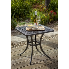 Hartman Amalfi 54cm Square Side Table Traditional Bronze