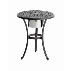 Hartman Amalfi Bistro Table With Ice Bucket in Bronze