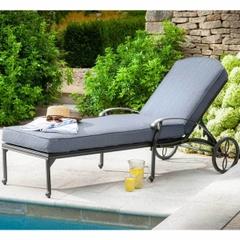 Hartman Amalfi Lounger w/cushion Antique Grey/Platinum