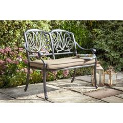 Hartman Amalfi 2 Seat Bench w/Cushion Bronze/Amber