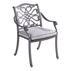 Hartman Capri Dining Chair w/cushion Antique Grey/Platinum