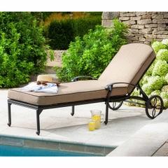 Hartman Capri Lounger w/cushions Traditional Bronze/Amber