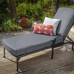 Hartman Capri Lounger w/cushion Antique Grey/Platinum