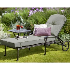 Hartman Capri Lounger 2017 Bronze with Wheatgrass Cushion