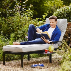 Hartman Jamie Oliver Lounger w/cushions Riven/Pewter