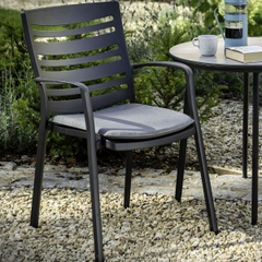 Hartman Aurora Contempoary Dining Chairs Carbon/Pewter