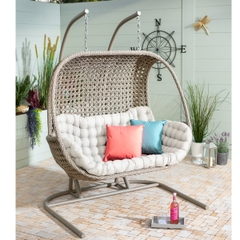 Hartman Heritage Double Hanging Chair With Cushion Beech/Dove